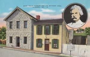 HANNIBAL , Missouri, 1930-40s; Mark Twain Museum & His Boyhood Home