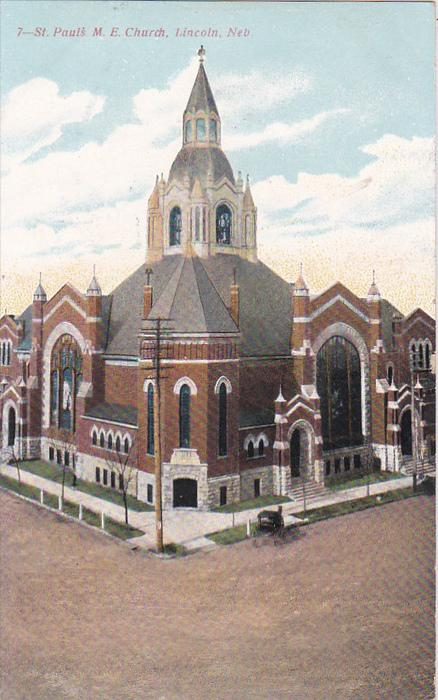 St. Paul's M. E. Church, Lincoln, Nebraska, PU-1908