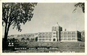 MT, Billings, Montana, Eastern Montana Normal School, RWG No. 8-B, RPPC
