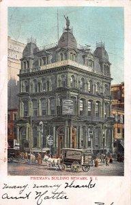 Fireman's Building, Newark, N.J., 1905 Postcard, Used, sent to Ringoes, N.J.