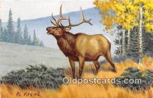 Painted by Al Kreml Elk Postcard Post Card Painted by Al Kreml Elk