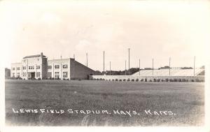 Hays Kansas~Lewis Field~Fort Hays State University Football Stadium~1940s RPPC