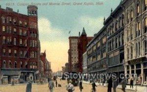 Campau Square and Monroe Street in Grand Rapids, Michigan