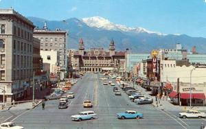 CO - Colorado Springs. Pikes Peak Avenue, Early 1960's