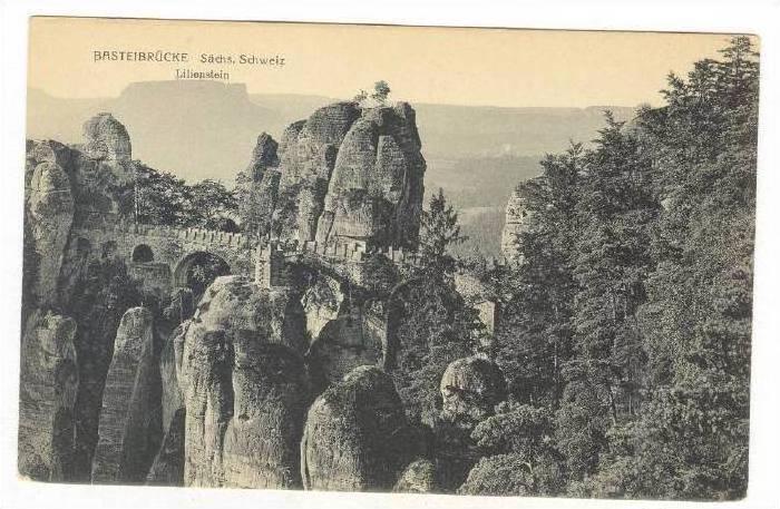 Lilienstein, Basteibrucke, Switzerland, 1900-1910s