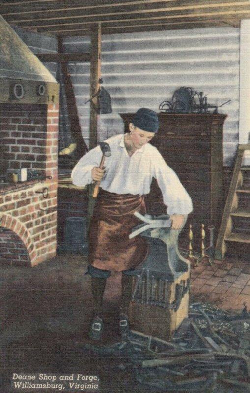 WILLIAMSBURG, Virginia, 1930-40s; Deane Shop & Forge, Blacksmith