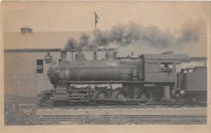 F82/ Occupational RPPC Postcard c'10 Steam Locomotive Railroad Engineer 22
