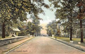 Yonkers New York~Homes on Alta Avenue South~White Poodle Dog on Sidewalk~1908