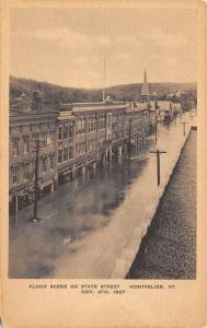 Montpelier VT~Christ Episcopal Church ~Western Union Bldg~Drugs~Under Flood 1927