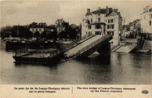 CPA Militaire - Le pont de fer de Lagny-Thorigny détruit (697670)