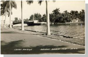 Delray Beach, Florida/FL Glossy Postcard, Canal Bridge