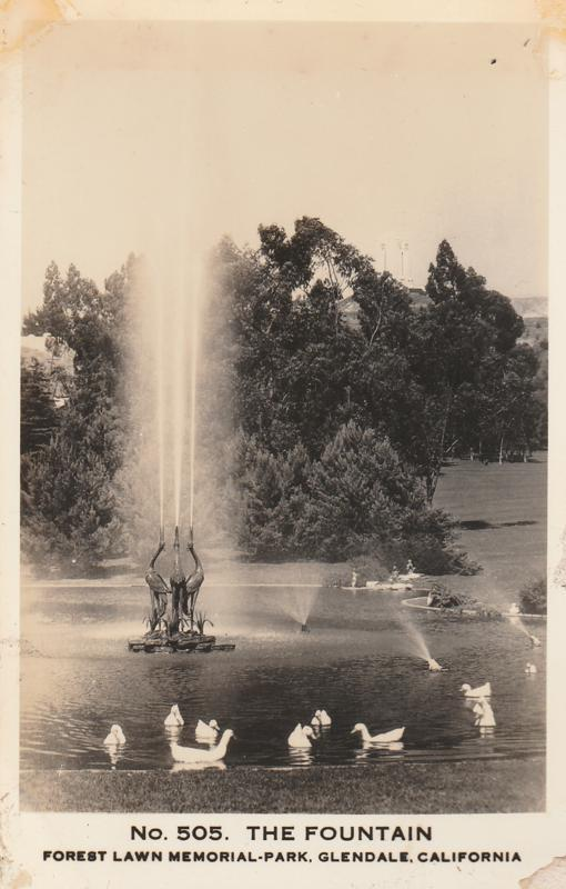 RPPC Fountain at Forest Lawn Memorial Park - Glendale CA, California