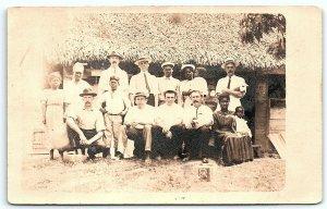 VTG Postcard RPPC Real Photo Black Americana Sugar Plantation Southern? A7