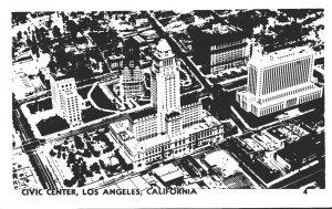 California Los Angeles Aerial View Civic Center