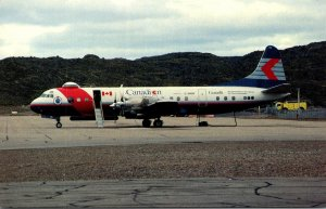 Canadian Air Lines International Lockheed L-188 C Electra At Frobisher Bay NW...
