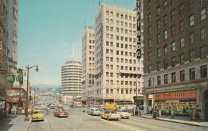 HOLLYWOOD , California , 1950s ; Hollywood & Vine, REXALL Drug Store, Taft Bldg.