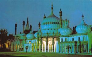 Vintage Postcard The Royal Pavilion by Night, Brighton, East Sussex K47