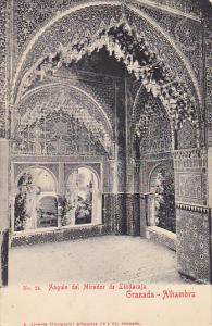 Spain Granada Alhambra Angulo del Mirador de Lindaraja