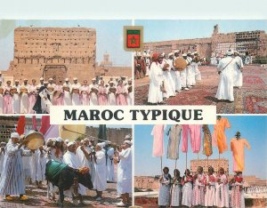 Typical Morocco Postcard ethnic types&scenes traditional outfits