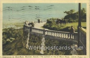Observatoire du Mont Royal, Lookout Mount Royal Montreal Canada 1918