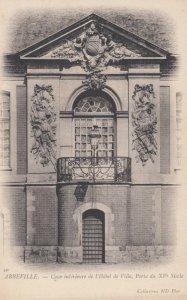 ABBEVILLE, France, 1910-1920s, Cour interieure de l'Hotel de Ville, Porte du ...
