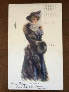 1906 Woman Winter, National Art Company # 20; Philip Boileau D21