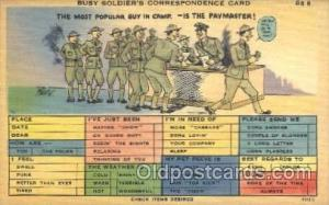 A busy Solider's Correspondence Card Military Postcard Postcards  A busy Soli...