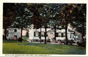 New York Johnstown Sir William Johnson Hall and Fort Curteich