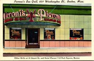Massachusetts Boston Pieroni's Sea Grill Washington Street