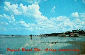 Florida Ormond Beach Beach Scene On A Lazy Summer Day
