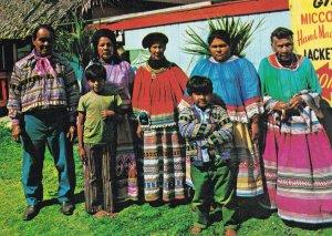 Jacket Makers Poster Florida Everglades Indian Family Postcard