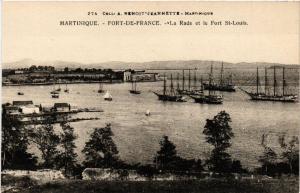 CPA Martinique. Fort de France. La Rade et le Fort St Louis MADAGASCAR (625370)