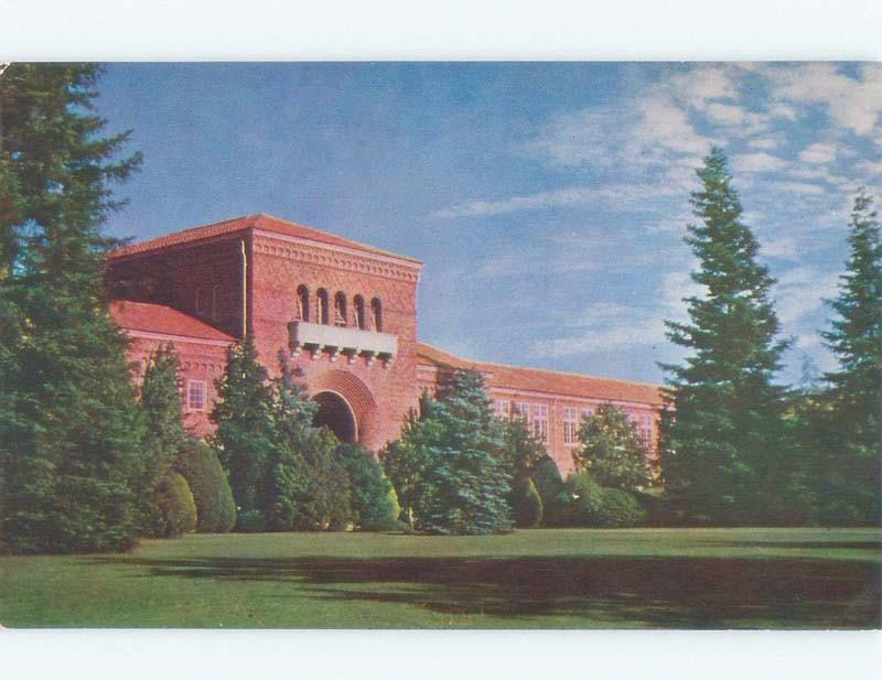 Unused Pre-1980 Sacramento College - Sacramento California CA E1490