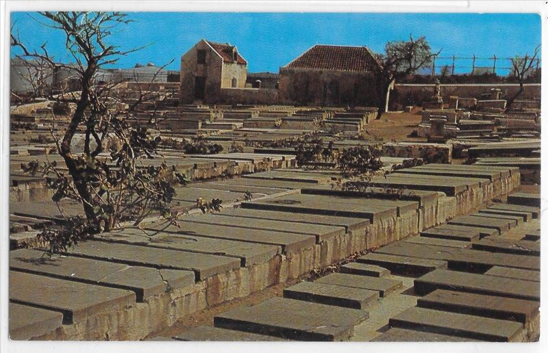 Old Jewish Cemetery Graveyard 17th Century Curacao Netherlands Antilles Postcard