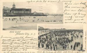 1905 Atlantic City New Jersey Hotel Rudolf Beach undivided postcard 11382