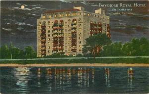 Bayshore Royal Hotel Tampa Florida C-1910 Teich postcard 9068 linen