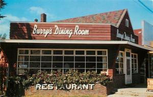 Cedar Michigan~Burrys Dining Rood~Restaurant~Colorful Roof~1950s Postcard