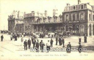 La Gare, arrivee d'un Train de Plaisir Le Treport, France, Carte, Unused