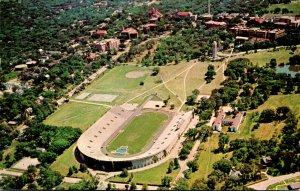 Kansas Lawrence Aerial VIew Of Stadium and Campanile Kansas University 1961