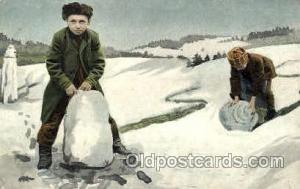 Snow Man, Snowman, Postcard Postcards