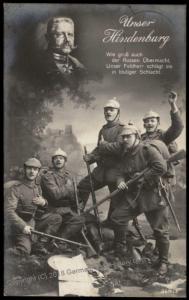 Germany WWI General von Hindenburg Patriotic Real Photo RPPC 70106