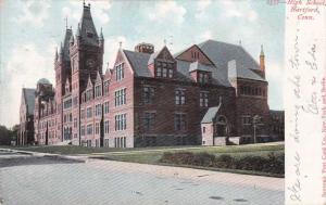 High School at Hartford CT, Connecticut - pm 1906 - UDB