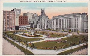 Missouri Saint Louis Sunken Garden Public Library Saint Louis