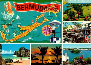 Bermuda Islands Map With Multi Views 1979