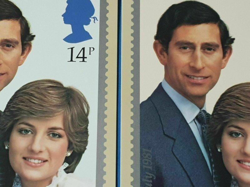 Set of 2 PHQ Stamp Postcard Set No.53 Royal Wedding Charles & Diana 1981 BS4