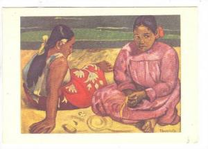 Women on Beach , Artist GAUGIN , 30-40s Tahiti view