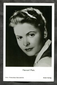 4791 - HANNERL MATZ Austrian Actress 1950s Real Photo Postcard