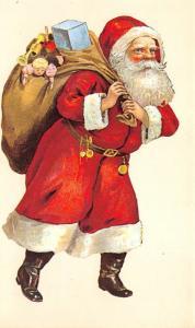 Reproduction Santa Claus Postcard Christmas Post Card Unused