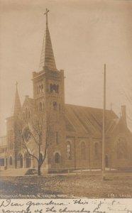 RP: N. YAKIMA , Washington , 1907 ; Catholic Church ; OAKES Photo postcard