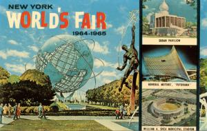 NY - New York World's Fair, 1964-65. Unisphere & Multi-View